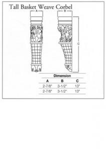 Tall Basketweave Corbel
