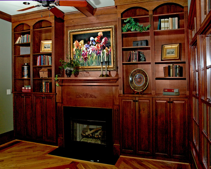 Custom Built-In Bookcases - Noles Cabinets - Noles Cabinets