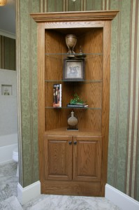 Custom Corner Bookcase
