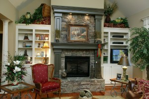 Custom Built Fireplace Mantle