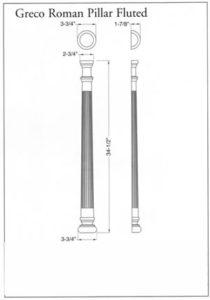 Greco Roman Pillar Fluted