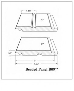 Beaded Panel B09