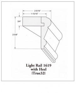 1619 Light Rail with Heel