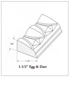 """1-1/2"""" Egg & Dart"""