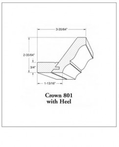 801 Crown Molding with Heel